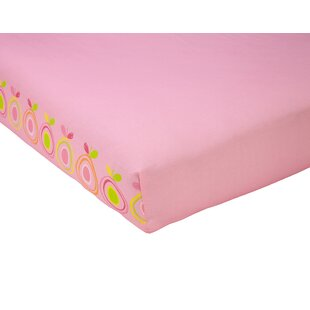 Find Pink Pear Fitted Crib Sheet BySadie & Scout