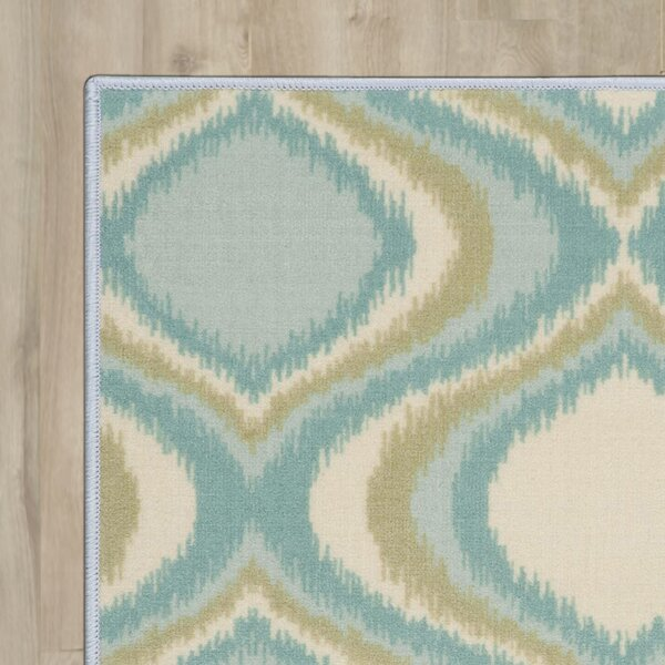 Doyers Blue Area Rug by Wrought Studio