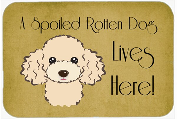 Poodle Spoiled Dog Lives Here Kitchen/Bath Mat by East Urban Home