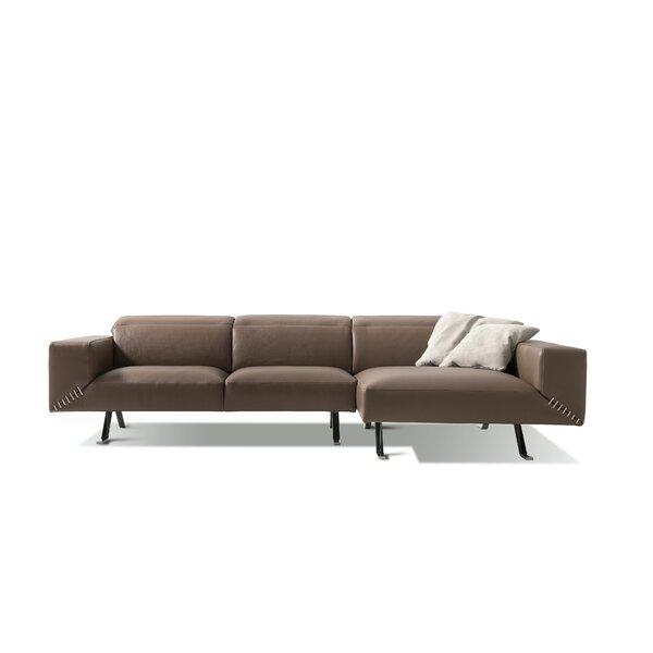 Bednar Leather Sectional By Orren Ellis