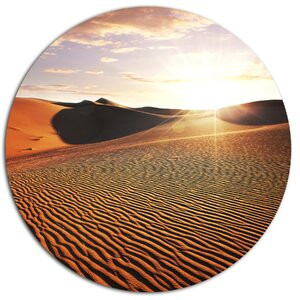 'Sahara Desert At Sunset' Photographic Print on Metal by Design Art