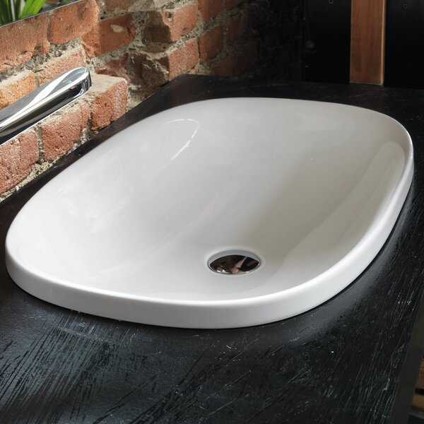 Wild Ceramic Oval Drop-In Bathroom Sink by WS Bath Collections