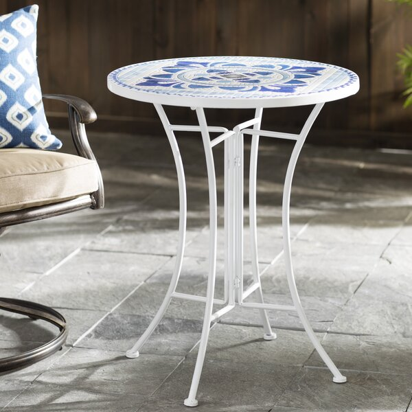 Vivian Tile Bistro Table by Rosecliff Heights