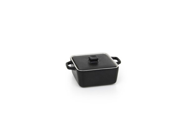 Kiln® Ovenware 8 Oz. Square Ovenware Dish with Lid (Set of 4) by Front Of The House