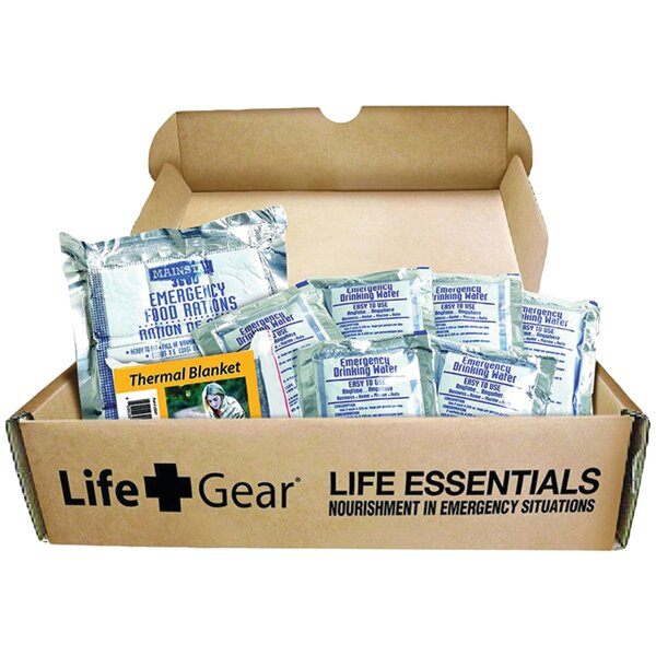 Life Essential 72-Hour Food and Water Kit by LifeGear