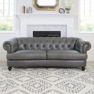 Barnabas Top Grain Leather Chesterfield Sofa