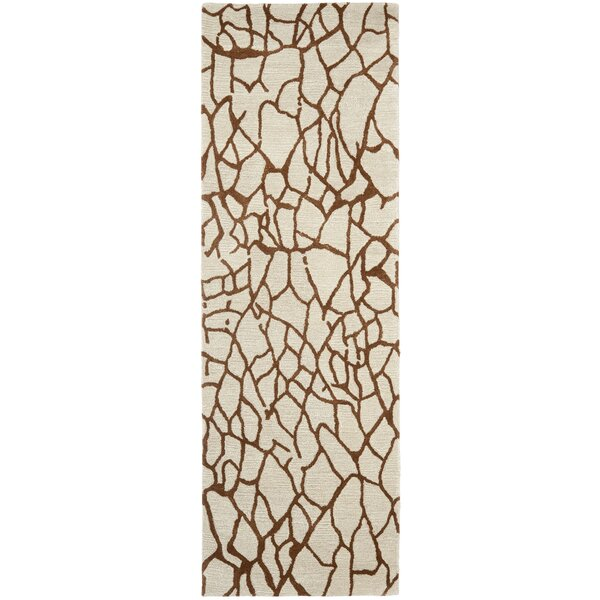 Armstrong Hand-Tufted Wool Beige Area Rug