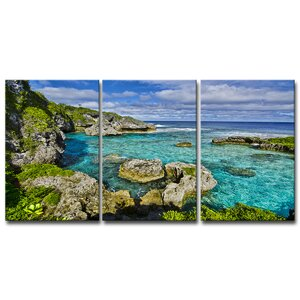 'Seaglass III' by Chris Doherty 3 Piece Photographic Print on Canvas Set by Ready2hangart