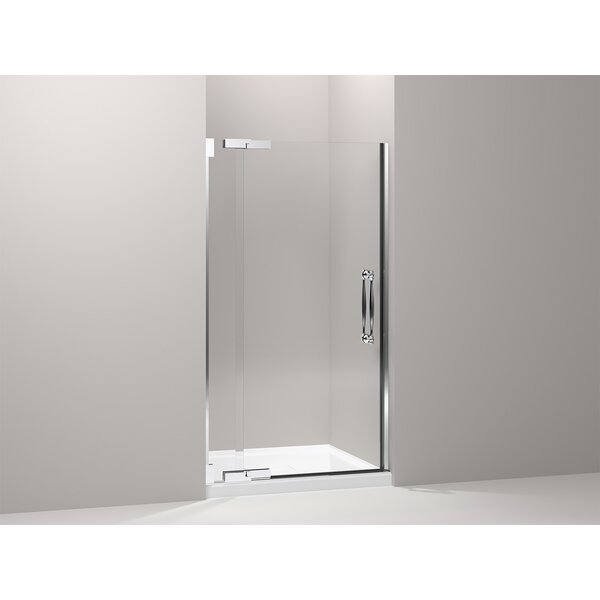 34'' x 71.38'' Pivot Shower Door with CleanCoat® Technology by Kohler