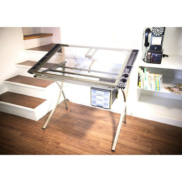 Heather Glass Drafting Table