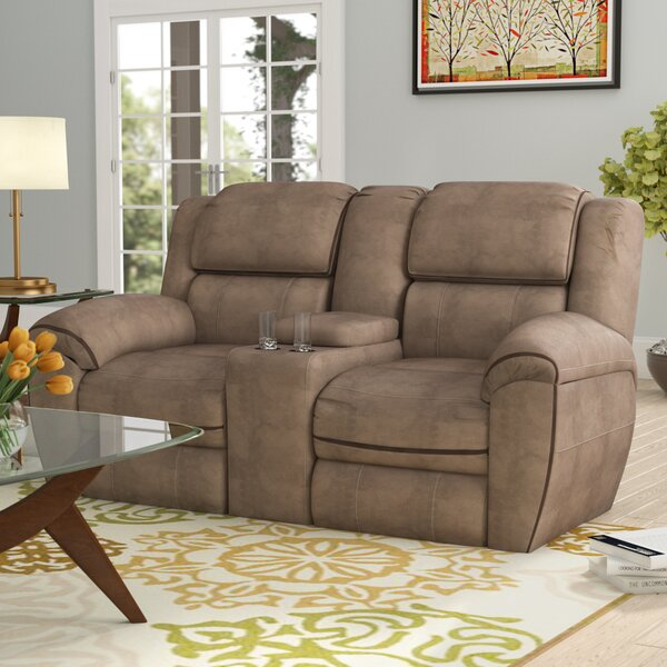 Simmons Genevieve Double Motion Reclining Loveseat by Red Barrel Studio