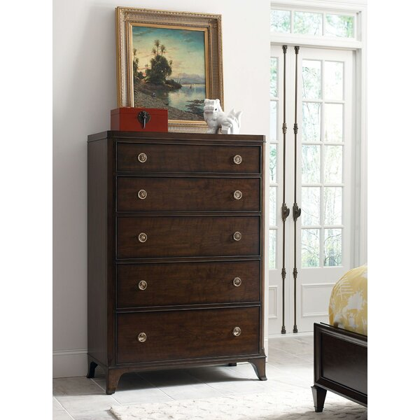 Bordeaux 5 Drawer Chest By Canora Grey by Canora Grey Discount