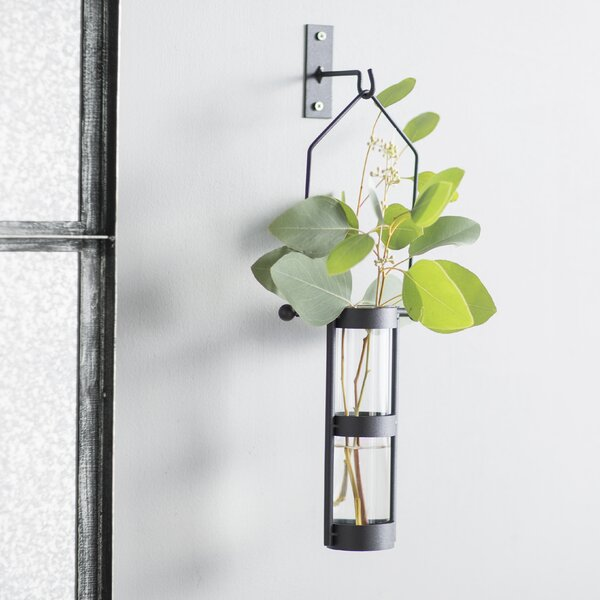 Hanging Cylinder Wall Vase (Set of 2) by August Grove