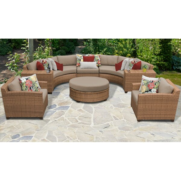 Waterbury 8 Piece Sectional Seating Group with Cushions by Sol 72 Outdoor Sol 72 Outdoor