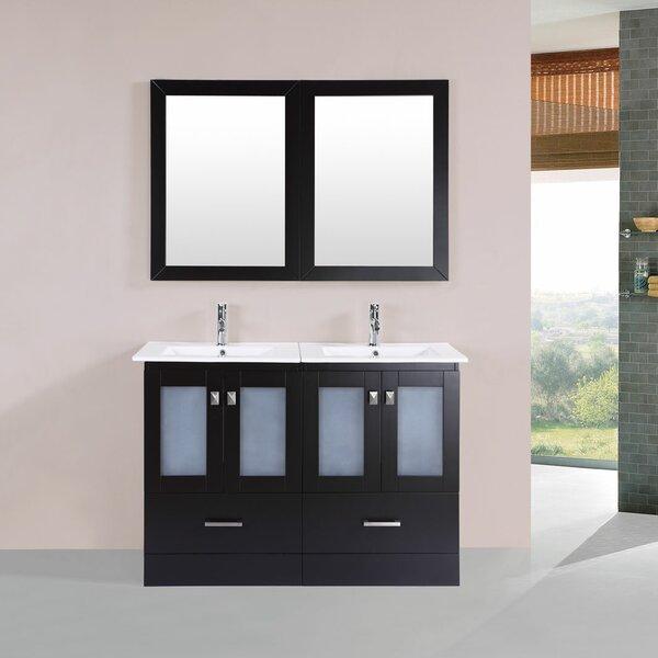 Lapoint Modern 48 Double Bathroom Vanity Set with Mirror by Latitude Run