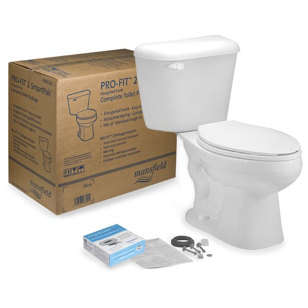 Pro-Fit 1 1.28 GPF Round Two-Piece Toilet by Mansfield Plumbing Products