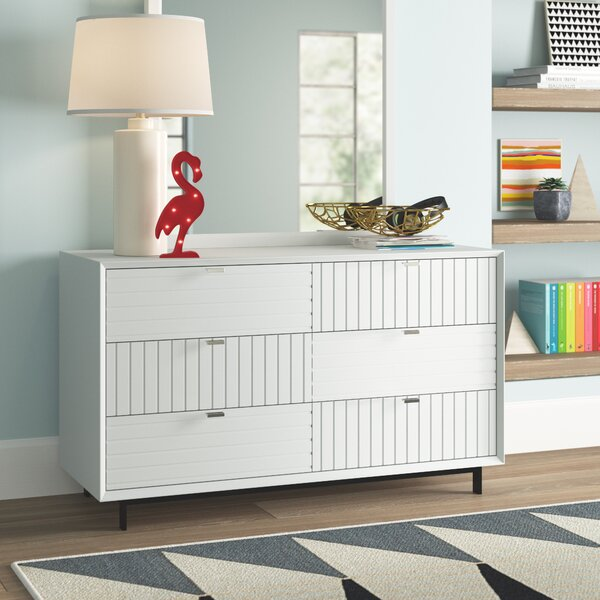 Arnett 6 Drawer Double Dresser by Trule Teen