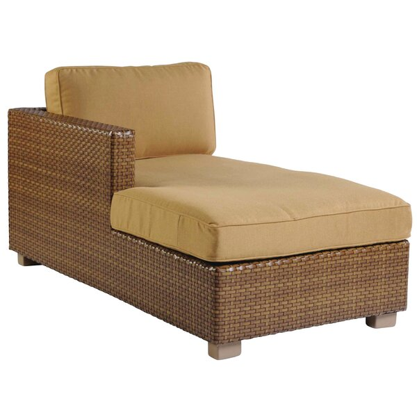 Sedona Left Arm Facing Chaise Lounge with Cushion by Woodard
