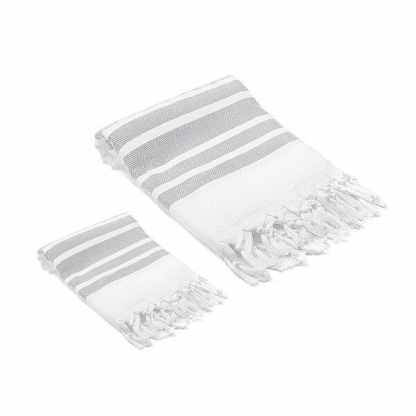 Ruthar 2 Piece Turkish Cotton Towel Set by Rosecli