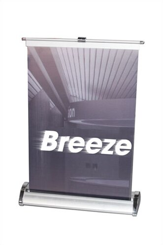 Breeze Retractable Tabletop Banner Stand by Exhibi