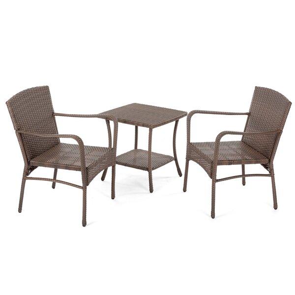 Warrick Outdoor Garden 3 Piece Seating Group by Gracie Oaks