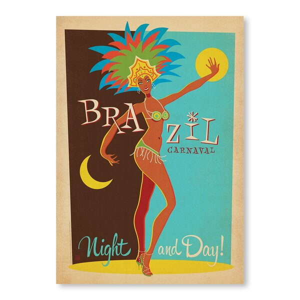 Carnaval Day and Night Vintage Advertisement by East Urban Home