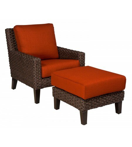 Mona Patio Chair with Ottoman by Woodard