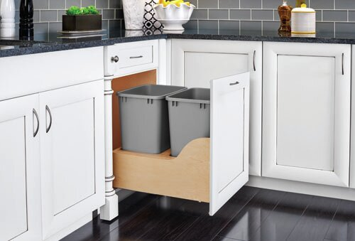 Wood Dovetail 8.75 Gallon Pull Out/Under Counter Trash by Rev-A-Shelf