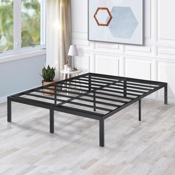 Darby Metal Steel Slate Bed Frame Alwyn Home ANEW2883