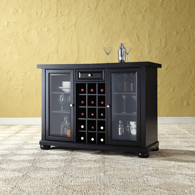 Darby Home Co Pottstown Bar Cabinet with Wine Storage & Reviews ...