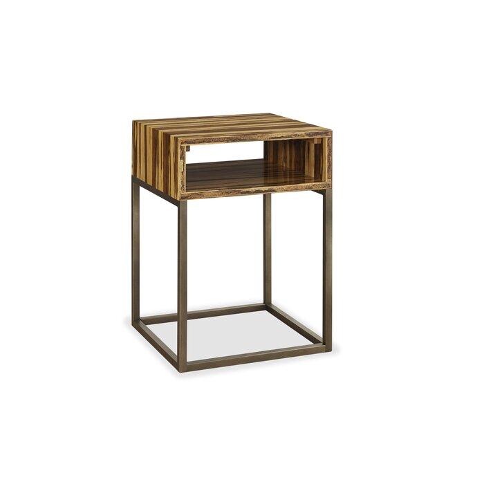 Toronto Tiger Bamboo End Table