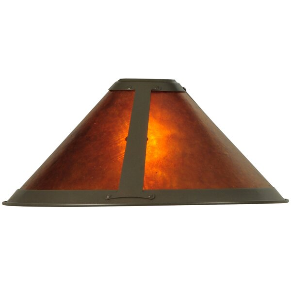 7 H Mica Empire Lamp Shade ( Clip On ) in Amber
