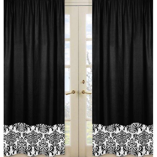 Isabella Damask Semi-Sheer Rod pocket Curtain Panels (Set of 2) by Sweet Jojo Designs