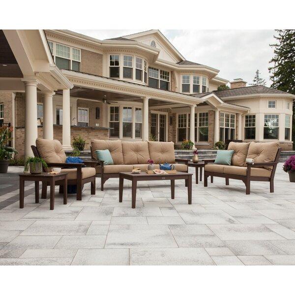 Vineyard 6 Piece Sunbrella Sofa Seating Group with Cushion by POLYWOOD®