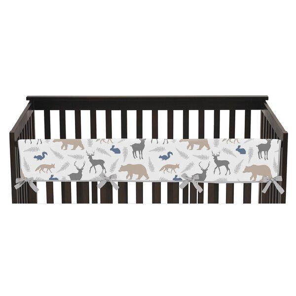 Woodland Animals Long Crib Rail Guard Cover by Sweet Jojo Designs