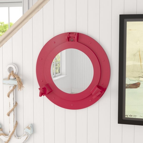 Brass Ship Porthole Accent Mirror by Beachcrest Home