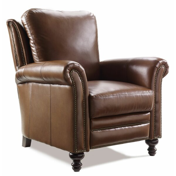 Richardson High Leg Leather Manual Recliner by Bradington-Young