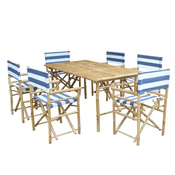 7 Piece Dining Set with Cushion by ZEW Inc