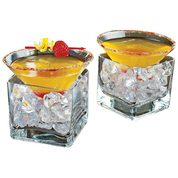 Midtown Martini Chiller 16 oz. Crystal Cocktail Glass (Set of 2) by Wine Enthusiast