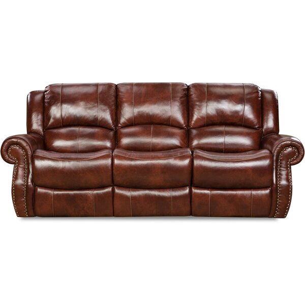 Additri Leather Reclining Sofa by Darby Home Co