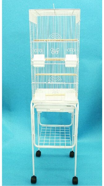 Tall Square 4 Perch Bird Cage with Stand by YML