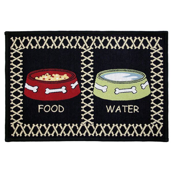PB Paws & Co. Black Meal Time Tapestry Area Rug by Park B Smith Ltd