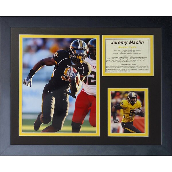 Jeremy Maclin - Missouri Framed Memorabilia by Legends Never Die