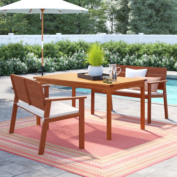 Elsmere 3 Piece Dining Set with Cushions by Beachcrest Home
