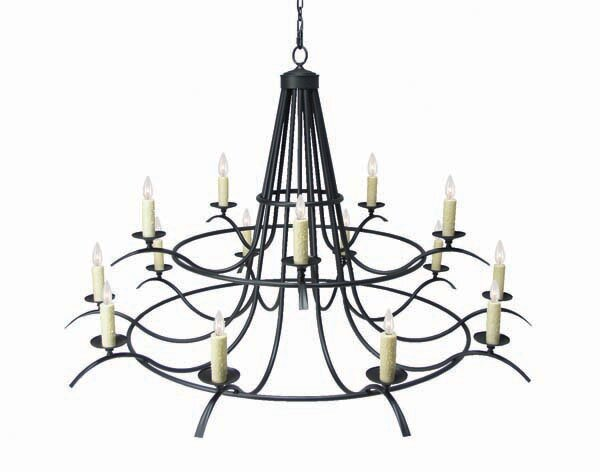 Octavia 15 - Light Candle Style Wagon Wheel Chandelier by 2nd Ave Design 2nd Ave Design