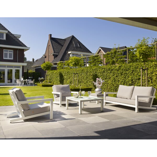 Block 4 Piece Sofa Set with Cushions by Bellini Home and Garden