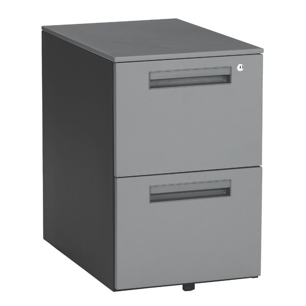 Executive Series 2-Drawer Mobile Pedestal File Cabinet by OFM