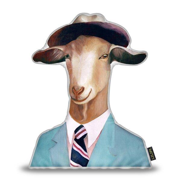 Jerkins Goat Throw Pillow by Wrought Studio