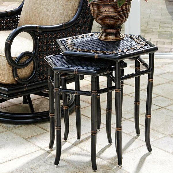 Marimba Wicker/Rattan Side Table by Tommy Bahama Outdoor