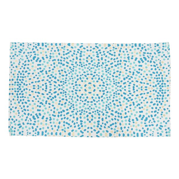 Baize Foil Printed Turquoise Indoor Area Rug by Wrought Studio